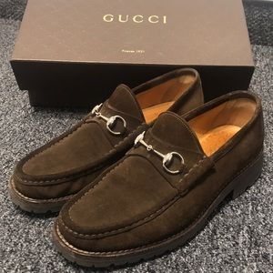 Suede Gucci Loafers